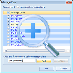 Check the Message class using Check box.